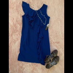 NWT SOHO Apparel cocktail dress with ruffle accent